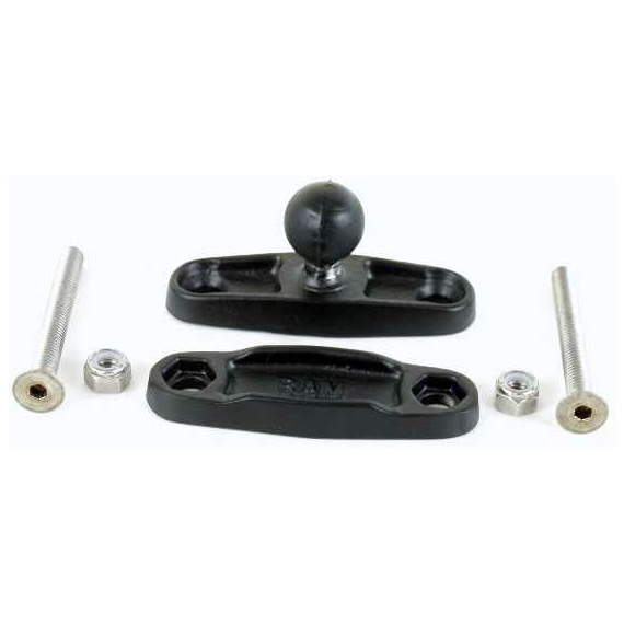 RAM Mount Square 1.5 inch Rail Clamp Base with 1 inch Ball