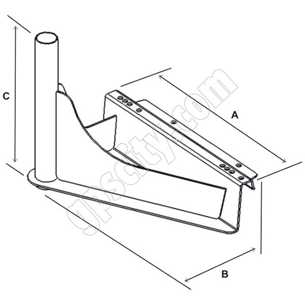 Express Mounts presents: RAM-VB-140 RAM Mount Commercial Semi Truck Laptop Mount Base Dimensional Drawings