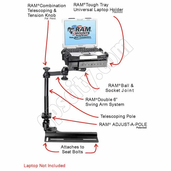 RAM Mount Dodge Caravan Vehicle Laptop Mount RAM-VB-146-SW1