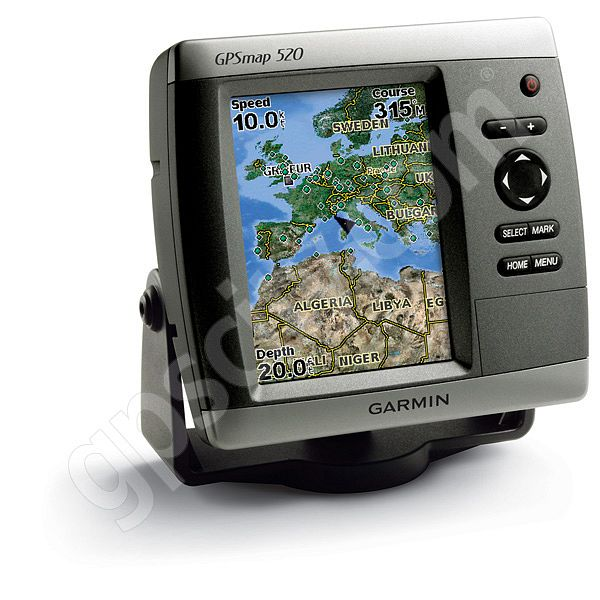 garmin gpsmap 520s sounder with dual frequency transducer rh gpscity com