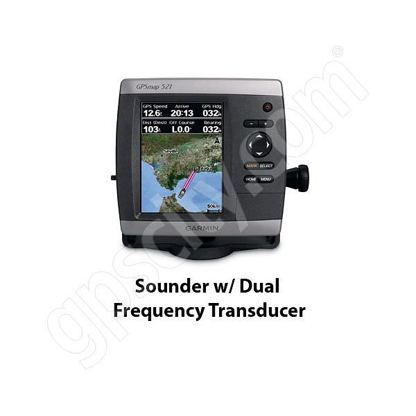 Garmin GPSMAP 521s Sounder with Dual Frequency Transducer