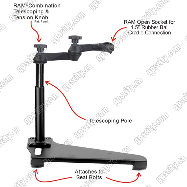 RAM Mount Ford Escape Dual Arm Vehicle Mount with Open Socket