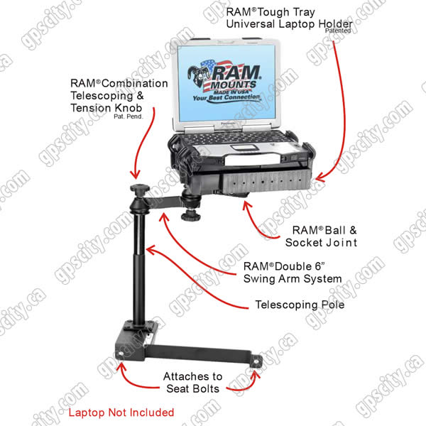 RAM Mount Honda Civic Dual Arm Laptop Vehicle Mount