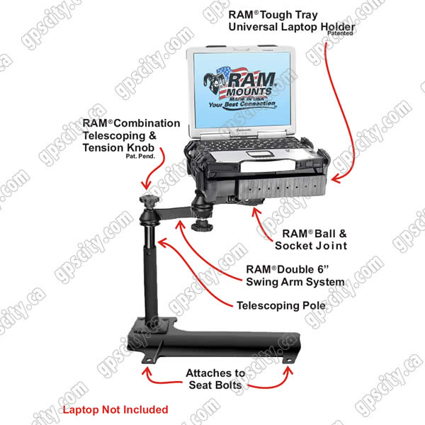 RAM Mount Jeep Wrangler Vehicle Laptop Mount RAM-VB-158-SW1