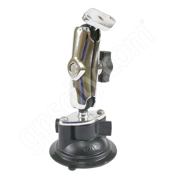 RAM Mount Chrome 1 inch Ball with 3.0 inch Arm Assembly