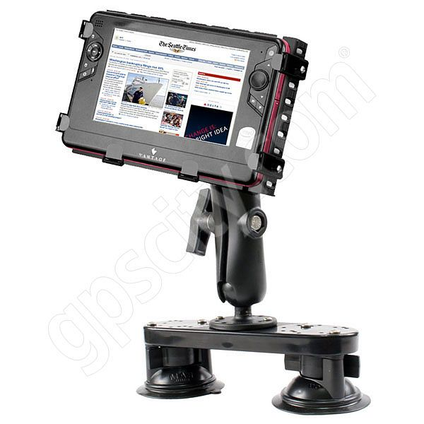 RAM Mount Tough Tray II HD Dual Suction Plate Netbook Mount 1.5 Ball