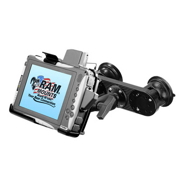 RAM Mount Itronix Duo Touch Tablet Dual Suction Cup Mount