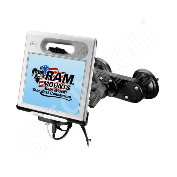 RAM Mount Motion Computing C5 F5 Dual Suction Cup Mount