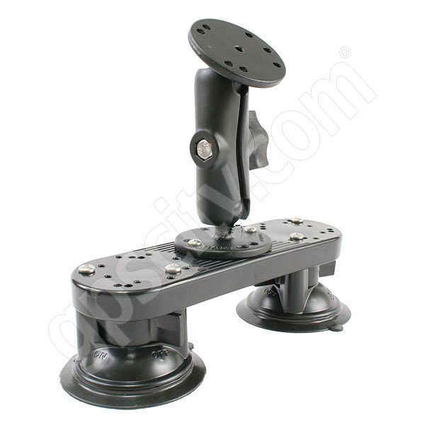 RAM Mount Dual Locking Suction with Standard Arm and Round Plate