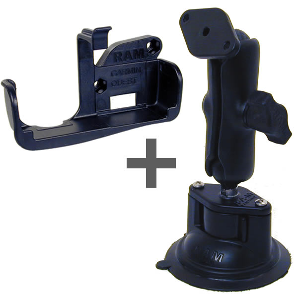 RAM Mount Garmin Quest Series Locking Suction Cup Mount Additional Photo #1