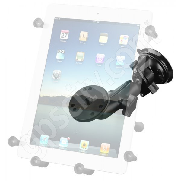 RAM Mount Universal X-Grip III iPad Tablet Locking Suction Cup Mount RAM-B-166-UN9U Additional Photo #2