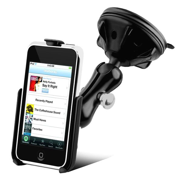 RAM Mount Apple iPod Touch Grip-Lock Suction Cup Mount