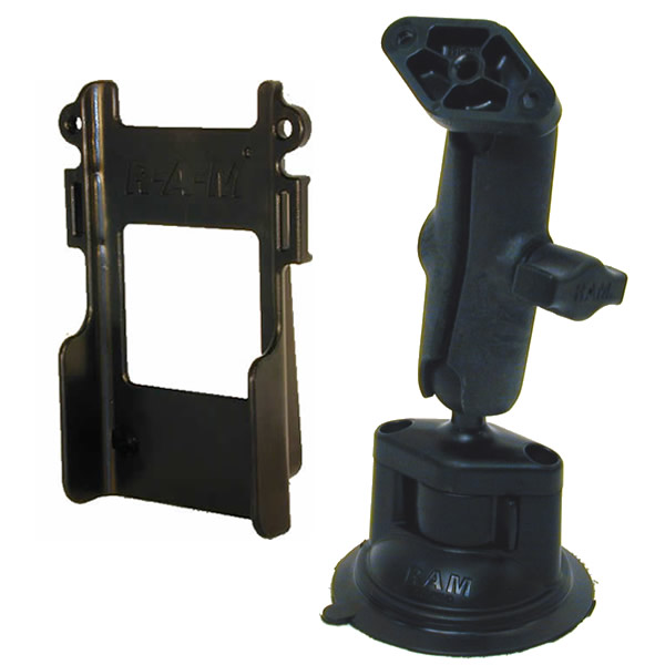 RAM Mount Radio Belt Clip Bar Locking Suction Mount