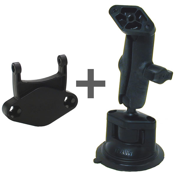RAM Mount Plastic Garmin Cradle Attachment Suction Cup Mount