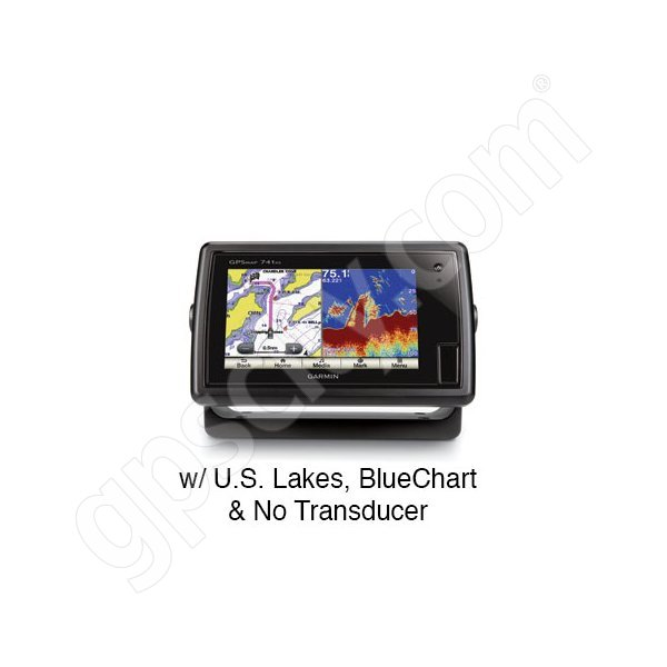 Garmin GPSMAP 741xs with Preloaded U.S. Lakes and BlueChart g2 without Transducer