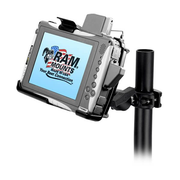 ram mount itronix duo touch tablet round pole clamp mount - Tablet Mount
