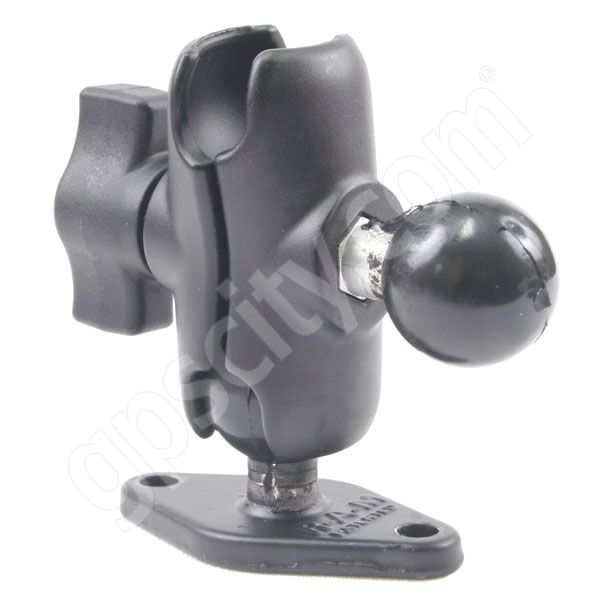 RAM Mount Short Arm with Side 1 inch Ball and Diamond Plate