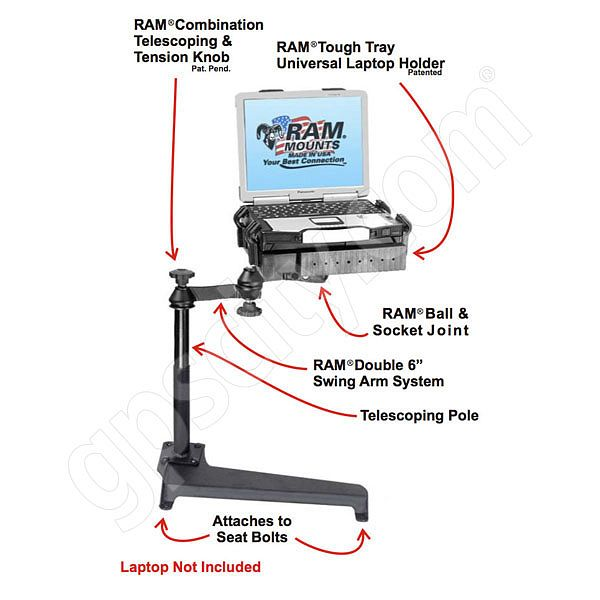RAM Mount Toyota Vehicle Laptop Mount RAM-VB-179-SW1