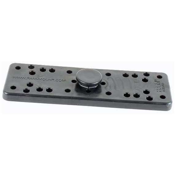 RAM Mount Plastic 2x6.25 inch Plate with Octagon Button