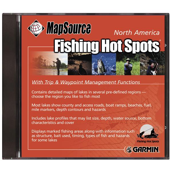 Garmin cd fishing hot spots v4 0 for Fishing hot spots