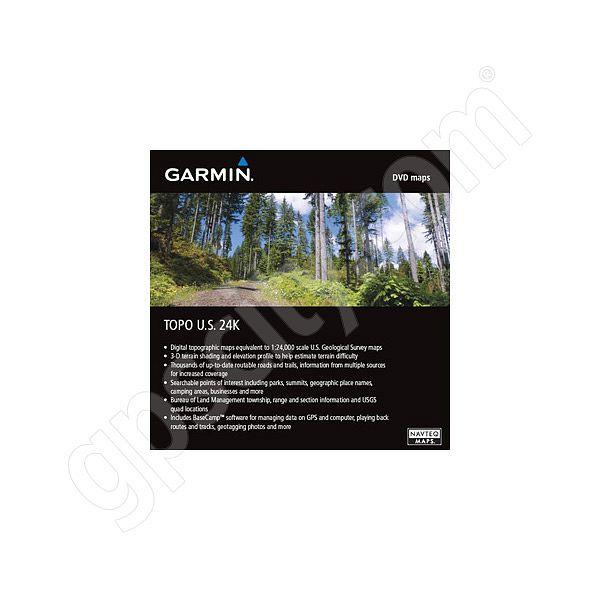 Garmin TOPO US 24K West DVD - Buy Us Topo24k Garmin Maps