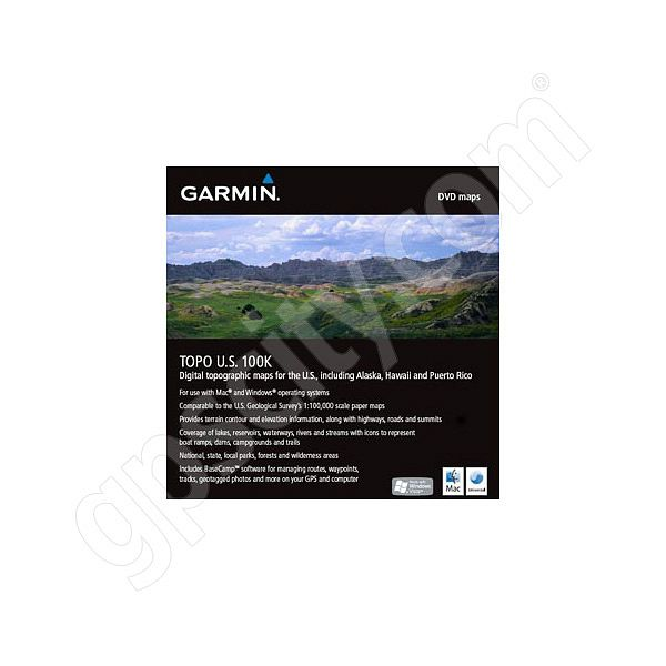 Garmin Topographic 100K USA DVD with BaseCamp Additional Photo #1