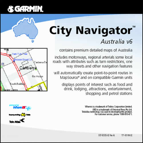 Garmin City Navigator Australia CD v6