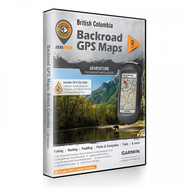 Backroad GPS Maps DVD for British Columbia