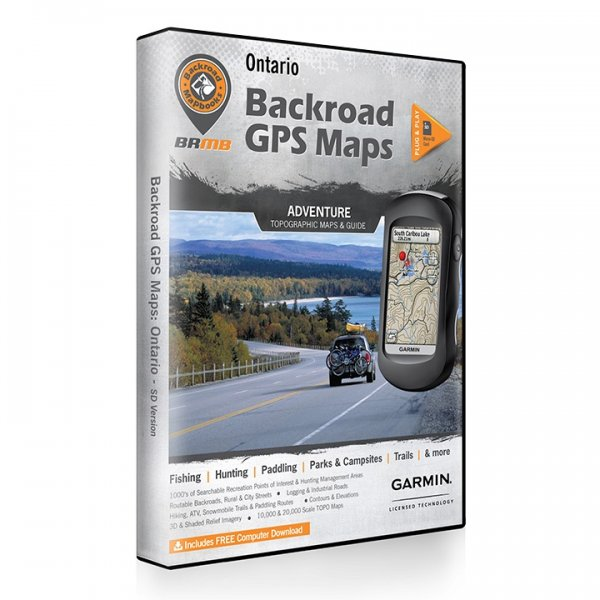 Backroad GPS Maps DVD for Ontario