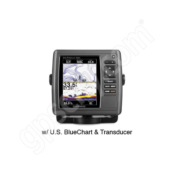 Garmin echoMAP 50s with Preloaded U.S. BlueChart g2 and Transducer