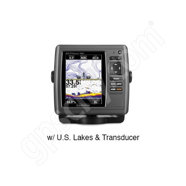 Garmin echoMAP 50s with Preloaded U.S. Lakes and Transducer