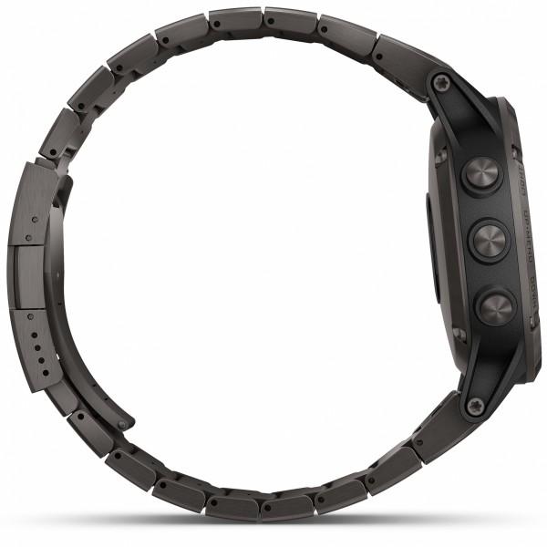 fenix 5 Plus Sapphire Carbon Gray DLC Titanium with DLC Titanium Band