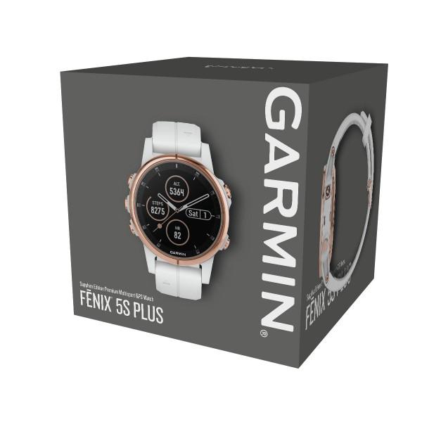 Garmin Fenix 5s Plus Sapphire Rose Gold With Carrara White Band
