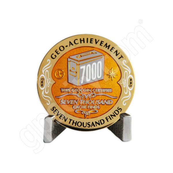 Geocaching Official 7000 Finds Geocoin Achievement Award