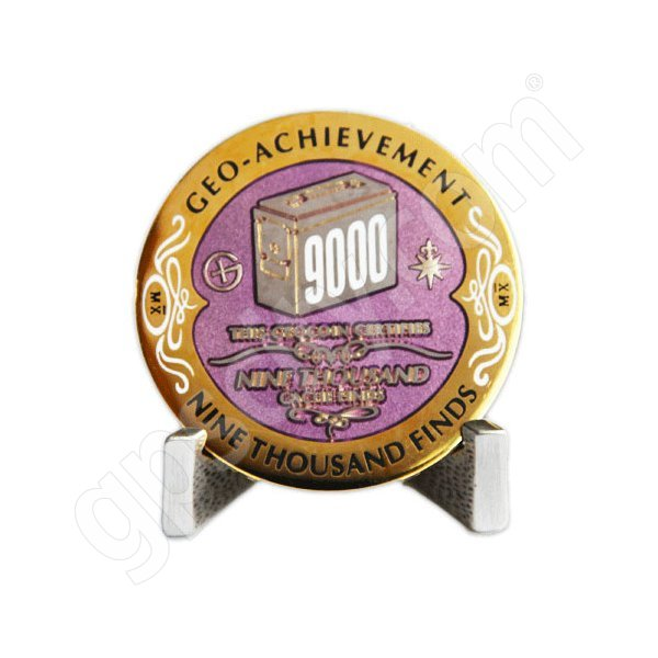 Geocaching Official 9000 Finds Geocoin Achievement Award