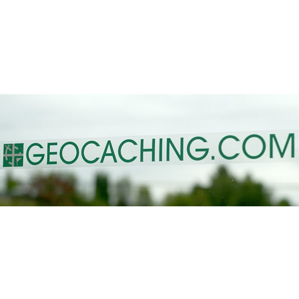 Geocaching Geo Decal Green Wide