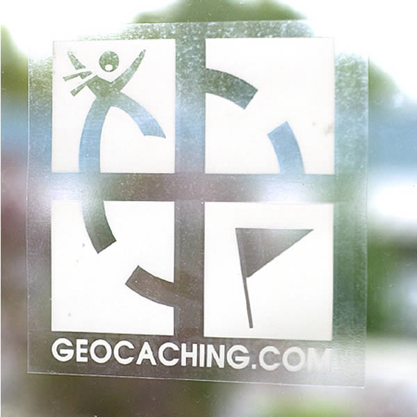 Geocaching Logo Inside Decal White