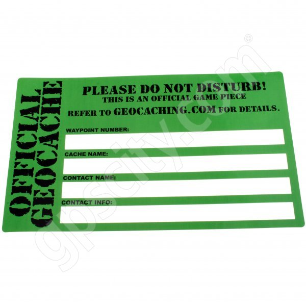 Geocaching Official Sticker Medium