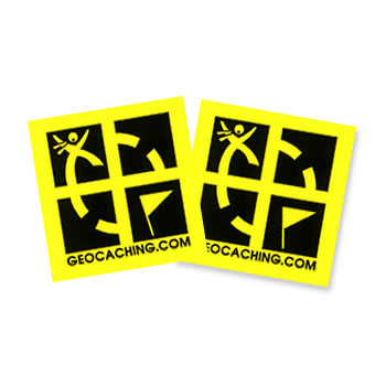 Geocaching Four Logo Yellow Sticker