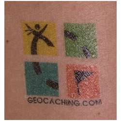 Geocaching Geo Tattoo 10 Pack