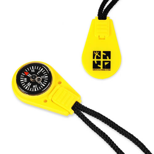 Geocaching Zip Pull Compass