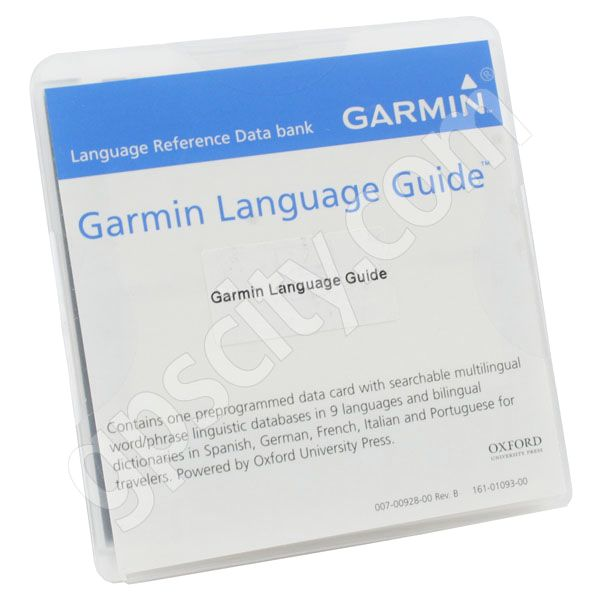 Garmin Language Guide MicroSD with Adapter