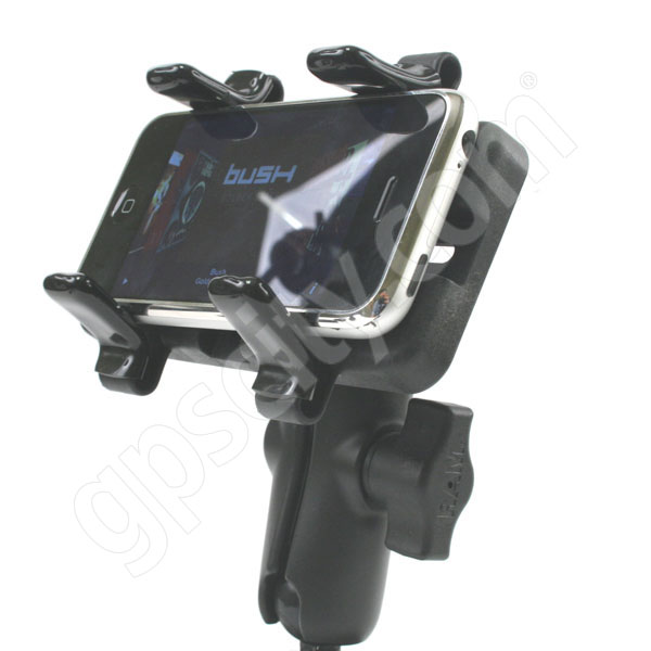 RAM Mount Universal Finger Grip Cradle on Motorcycle Brake Mount Additional Photo #9