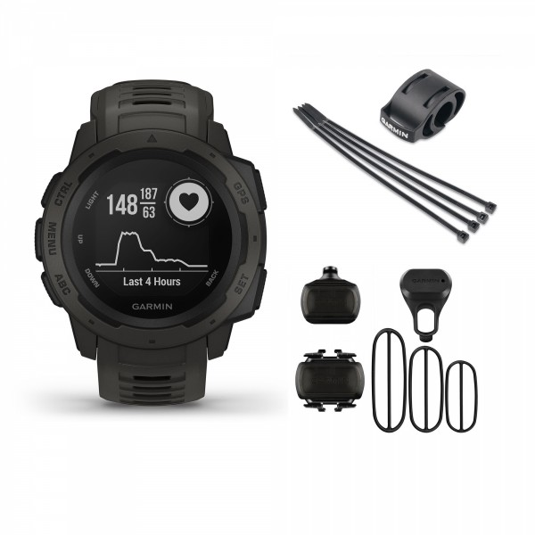 Instinct Rugged, Reliable Outdoor GPS Watch Graphite