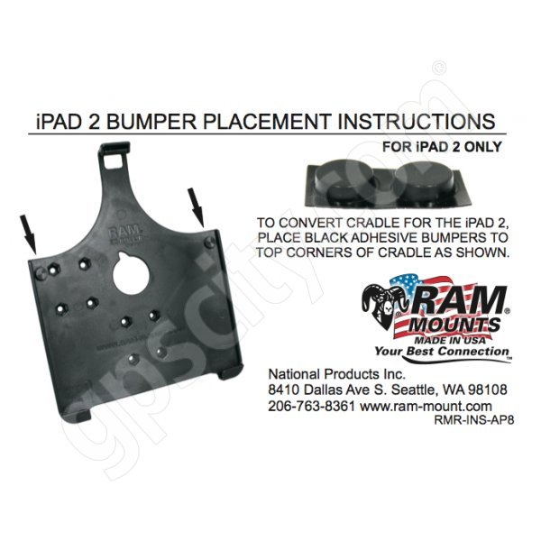 RAM Mount RAM-HOL-AP8 Cradle Mount Instruction Sheet RMR-INS-AP8