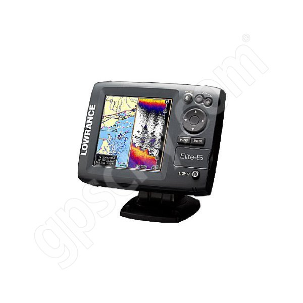 Lowrance Elite-5 Fishfinder and GPS Chartplotter