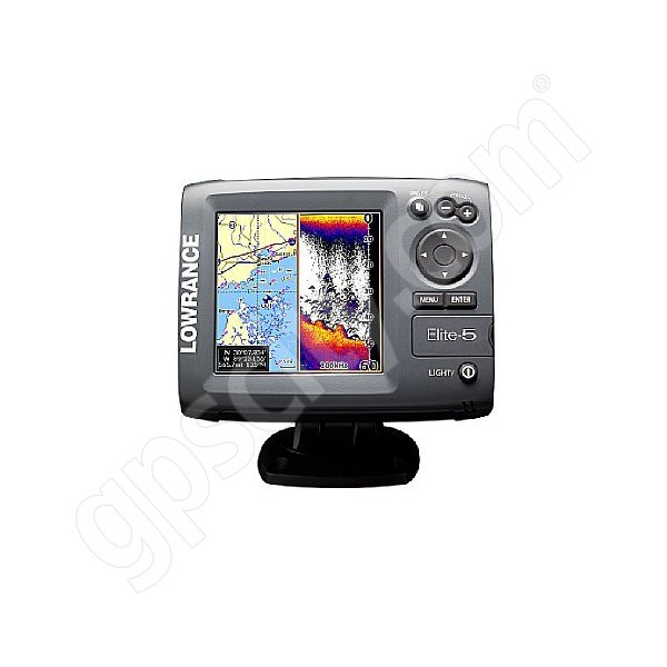 Lowrance Elite-5 Fishfinder and GPS Chartplotter Additional Photo #1