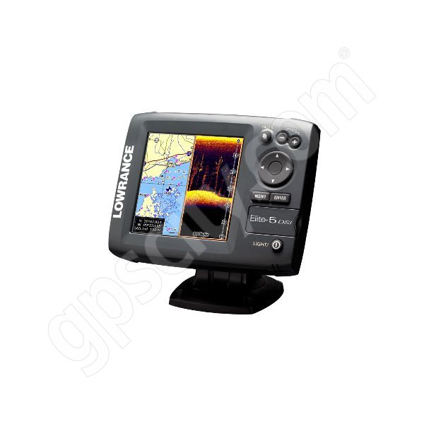 Lowrance Elite-5 DSI Gold Fishfinder and GPS Chartplotter