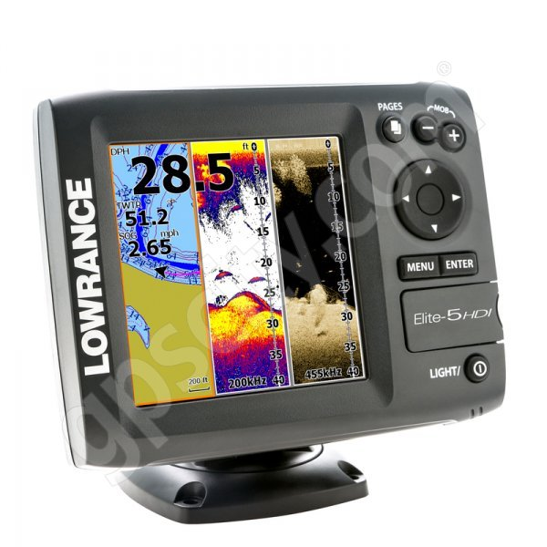 Lowrance Elite 5 Hdi With 50 200 Khz And 455 800 Khz