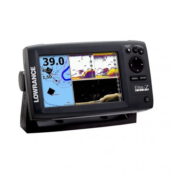 lowrance elite 7 chirp fishfinder and chartplotter with 50 200 transducer. Black Bedroom Furniture Sets. Home Design Ideas